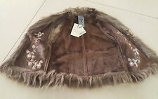 Girls Pumpkin Patch, 3 /100cm, Biscuit Fur Trim Vest Winter Jacket $35.00 NEW