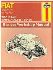 0090 Haynes Fiat 500 FINO AL MANUALE PER OFFICINA M 1957-1973