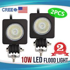 2x 10W CREE LED Work Light 12V 24V Fog Lamp Bar Flood Offroad Motorcycle 4WD