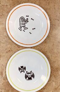 "Corelle Halloween Plates Mummy & Bat  6.75"" Buffet Plates 4 /Corelle  #Halloween"