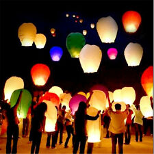 20 Chinese Paper Sky Flying Wishing Lantern Lamp Candle Party Wedding Mix Colors