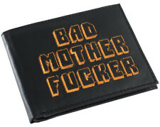 Black and Orange Embroidered BMF (Bad Mother Fu**er) Pulp Fiction Leather Wallet