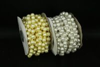 10mm String Faux Pearl Beads Garland (18 Feet Roll) Wedding, Crafts, Christmas