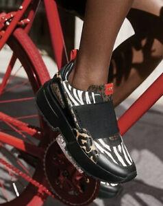 Michael Michael Kors Cosmo Animal-Print Calf Hair Slip-On Sneakers NWB Size 7.5