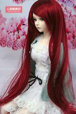 BJD Doll Hair Wig 9-10 inch 22-24cm Dark red 1/3 SD DZ DOD LUTS E62R