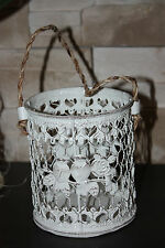 Home or Garden Shabby Chic Vintage Retro Style White candle holder