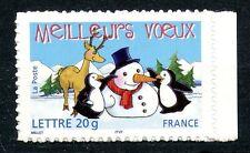 TIMBRE FRANCE NEUF N° 3854 ** MEILLEURS VOEUX EMIS EN CARNET / AUTOADHESIF