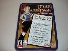 diner dash playfirst software computer game tin box new