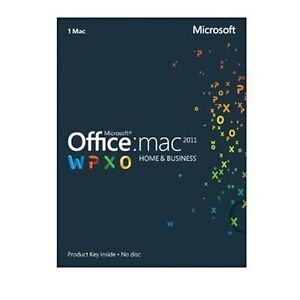 FRENCH MS Microsoft Office MAC 2011 Home and Business PKC for 1 User 1Mac SEALED