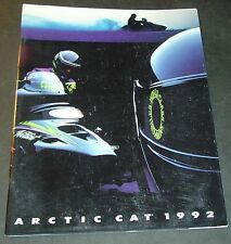 1992 ARCTIC CAT SNOWMOBILE SALES BROCHURE 40+ PAGES NICE (652)