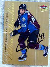 Colorado Avalanche Chris Durno Auto 09/10 Fleer Ultra Gold Rookie Card
