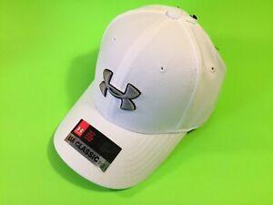 New UNDER ARMOUR Youth Boys UA Classic Fit Heatgear Snapback Hat Sz XS/S White