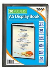 Tiger A5 20 Pocket Presentation Display Book (Ideal for Menus, Reports, Hymn etc