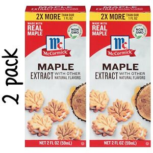 McCormick Maple Extract (2 Bottle Pack) 2 fl oz /each