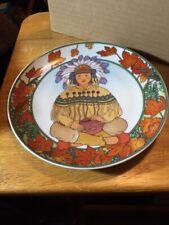 Vintage Wall Plate Rare Indian Child Heinrich: Villeroy Bosh Germany Unicef #9