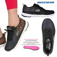 Skechers Womens Flex Appeal 3.0 Leopard Trainers Lace Up Memory Foam Sport Shoes