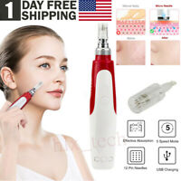 Electric Derma Pen Stamp Auto Anti Aging Micro Needle Rollers Face Beauty Device