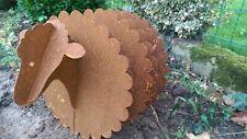 Schaf 3D Gartenskulptur Gartenfigur aus Metall rostig Gartendeko Rost