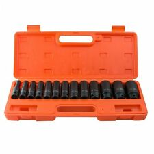 "USA 13 pc 1/2"" inch Deep Impact Socket Tool Set 10-32mm Metric Garage Workshop"