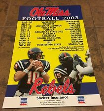 2003 Large Ole Miss Football Schedule Eli Manning