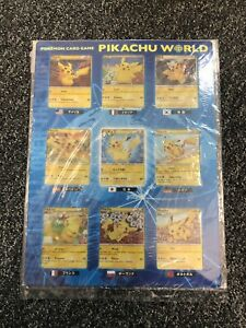 Pokemon TCG - 2010 Pikachu World Promo - Collection Complete Set - Japanese