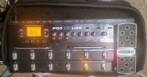Line 6 POD X3 Live Guitar Multi-Effects Pedal Amp Simulator + Bag + Fast Ship