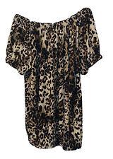 New ISABELLA RODRIGUEZ Women's Blouse Size XL Leopard Print Off Shoulder