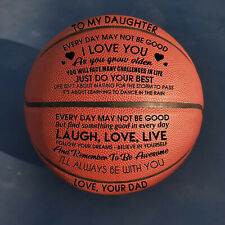 To My Daughter Love You From Dad Engraved Basketball Gift Anniversary Birthday
