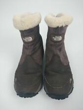 The North Face Primaloft Women's Brown Suede Winter Boots Size 7.5