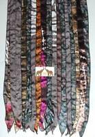 Vintage Silk Sari Striped Scarf Wrap Patchwork Stole Women Headscarf Multi Color