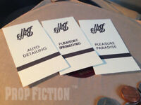Back to the Future II - BTTF Set of Prop Biff's Matchbook Covers