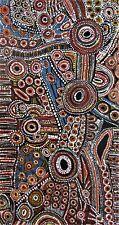 """ABORIGINAL ART PAINTING,""""Kuranda Cassowary"""" Hand Painted,150 cm.Annie Marlissa."""