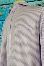 Hickey Freeman Men's Shirt Size 16 Cotton Button Down Career Striped Large