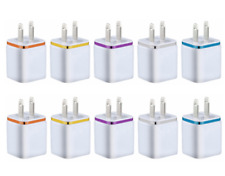 10x Double USB Wall Fast Charger Adapter 1A 2A 5V For Android/Galaxy/iPhone/LG