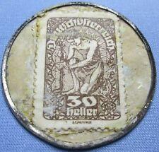 Austria Encased Postage Stamp 30 Heller J. Wiegele Wien Vlll