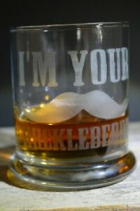 Etched Whiskey glassware I'm Your Huckleberry Great Gifts 12 Oz
