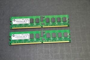 2pcs Wintec WD2RE01GX818-800I-PE DDR2-800 1gb 240 pin DIMM   2gb total