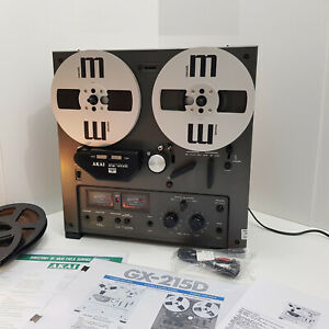 Akai GX-215D Auto Reverse SERVICED Reel to Reel Tape Recorder + Reels + Manuals