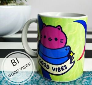 Funny Bisexual Pride Mug Bi Moon Symbol Coffee Cup LGBTQIA Pride