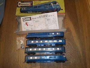 Kitmaster Blue Midland Pullman Kitchen & Parlour Car + 2 Power Cars as seen