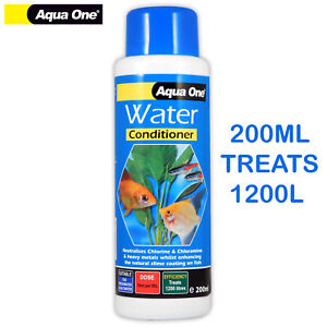 200ml Aqua One TAP SAFE WATER TREATMENT CHLORINE CHLORAMINE FISH TANK AQUARIUM