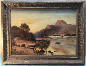 Late Colonial Probably Tasmanian Framed Oil Painting