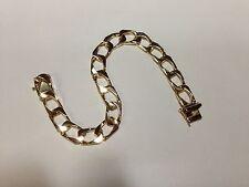 """14k solid gold handmade Curb Link mens bracelet 8"""" 28 Grams 9.5MM"""