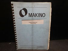 Makino Parts Manual_Mp02_Fx650_Mpfx650 9202_August 1993 Ver 2.0