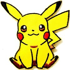 Pikachu Patch 2.5 Inch Embroidered Sew on Badge IRON ON / SEW ON Pokemon