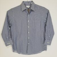 Tommy Bahama Mens 16.5 32/33 Long Sleeve Button Up Dress Shirt Stripes Blue