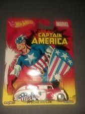 Hot Wheels Premium Marvel Captain America '38 Dodge Airflow, MOC
