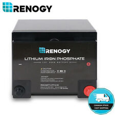 Renogy 12V Volt 50Ah Lithium Iron Phosphate Battery Rechargeable Deep Cycle BMS