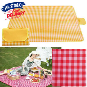 200x200cm Camping Foldable Picnic Mat Soft Rug Blanket Outdoor Waterproof ACB#