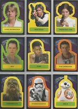 "Star Wars Journey Force Awakens - ""Character Stickers"" 18 Card Chase Set #S1-18"
